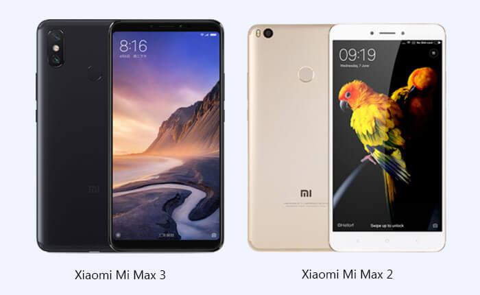 Xiaomi Mi Max 3 vs  Xiaomi Mi Max 2: big upgrades on screen