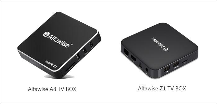 the design of Alfawise A8 TV box and Alfawise Z1 TV box