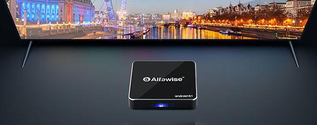 the design of Alfawise A8 TV Box