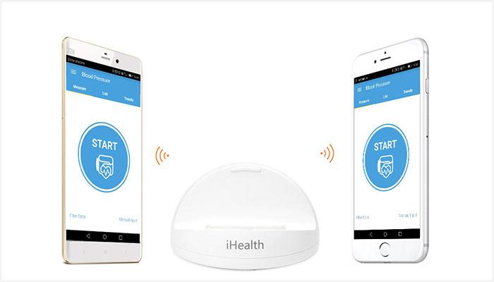 the Xiaomi app (Android and iOS) of iHealth smart blood pressure monitor