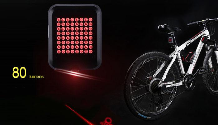 the 80 lumens of intelligent bicycle direction indicator light