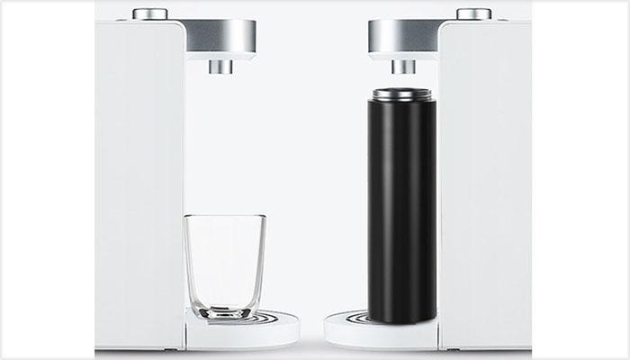 the high outlet design of minimalist instant heating water dispenser