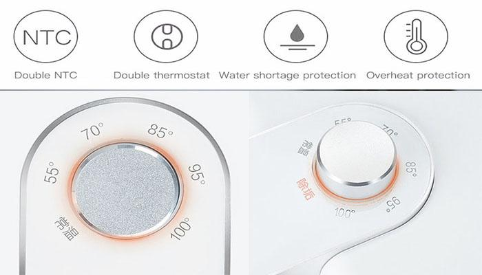 the multiple security protection of minimalist instant heating water dispenser