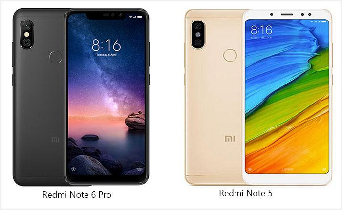 Xiaomi Redmi Note 6 Pro vs  Xiaomi Redmi Note 5: AI camera