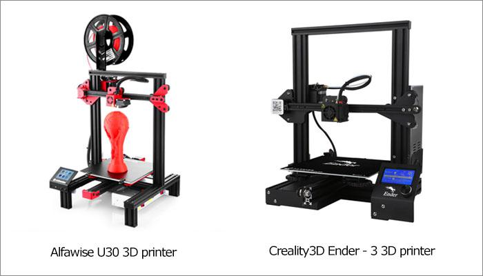 Alfawise U30 vs  Creality3D Ender - 3: comparison of the two