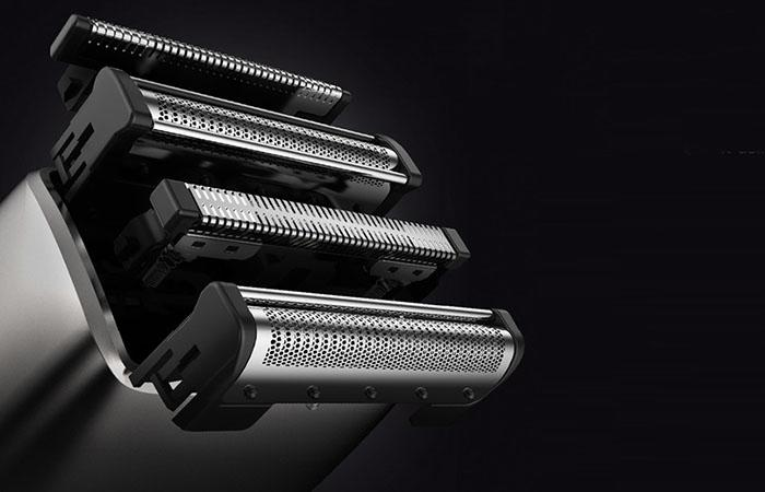 four-blade with flexible design of SMATE electric shaver