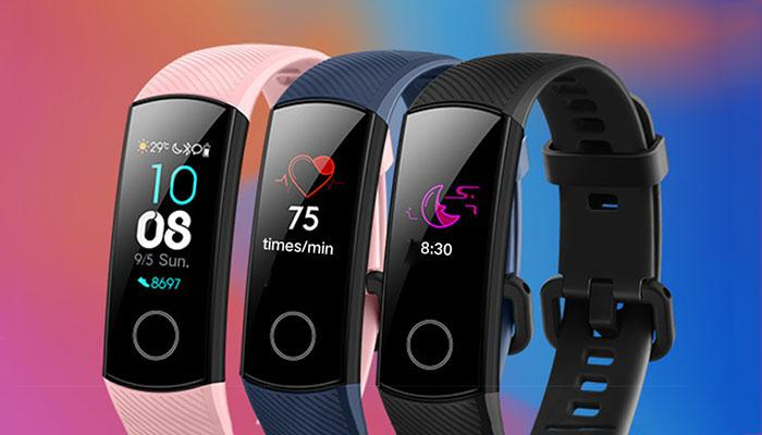 the color display of Honor Band 4