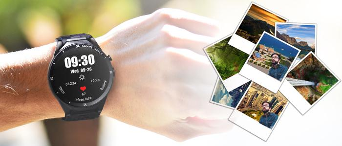the camera function of the Alfawise KW88 Pro 3G Smartwatch Phone