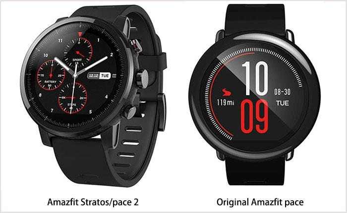 Amazfit Stratos vs. Amazfit pace: design