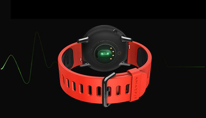 the built-in heart rate monitors of Amazfit pace
