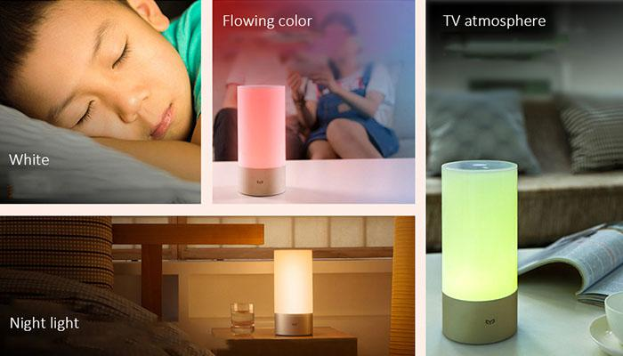 the lighting modes of Xiaomi Mijia bedside lamp 1