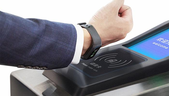 the built-in NFC chip of Amazfit Cor 2 fitness band