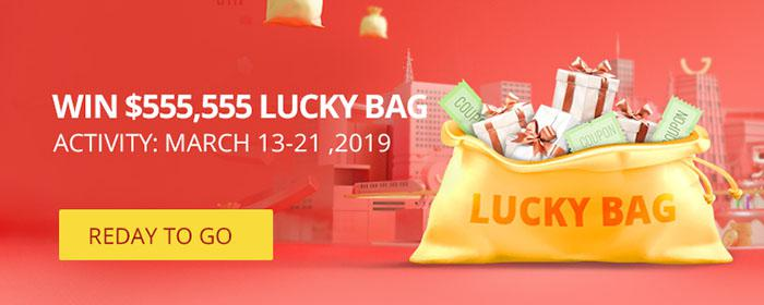the lucky bag game on Gearbest 5th anniversary