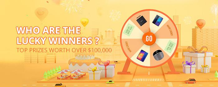 the prize tool game on Gearbest 5th anniversary