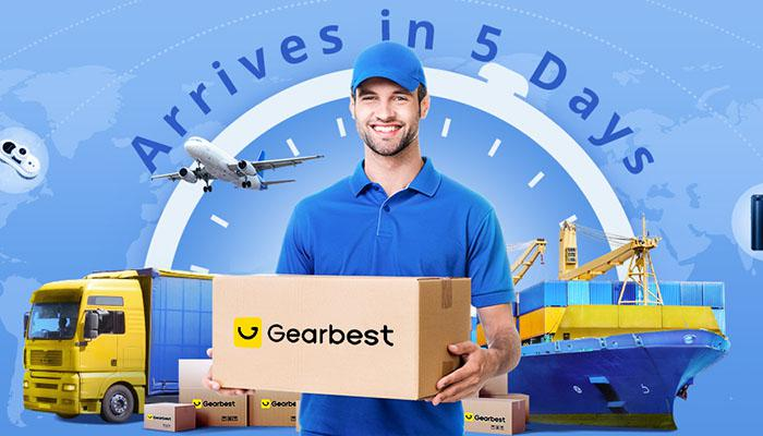 Arrives in 5 days on Gearbest 5th anniversary