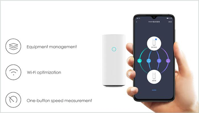 the Mijia App to set up the router
