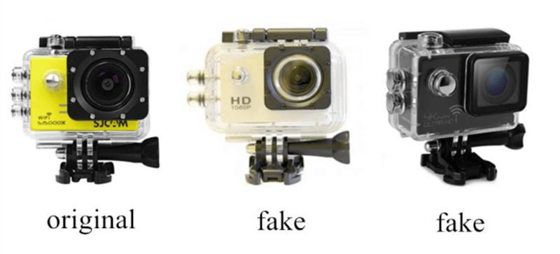 distinguish fake SJCAM from genuine SJCAM through the waterproof case