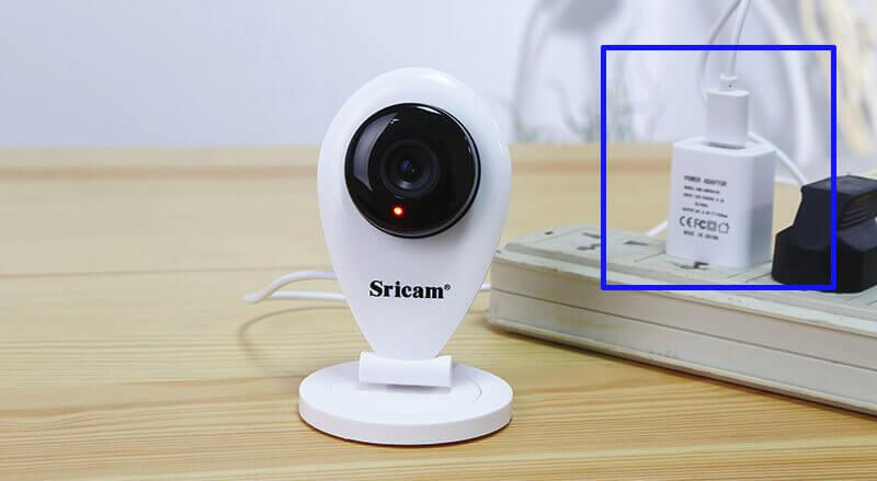 How to connect Sricam SP009 IP cam to the smartphone App