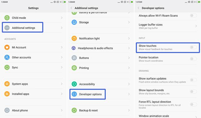 Xiaomi Redmi Note 2 developer options