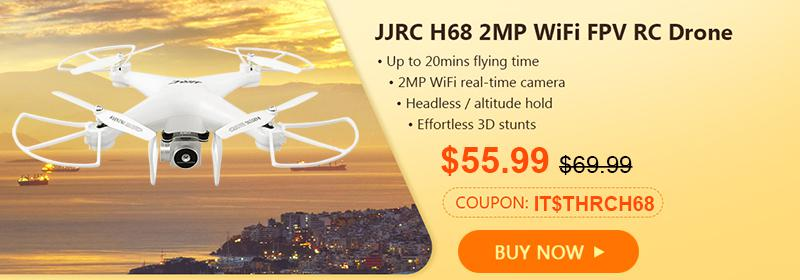 Gearbest JJRC H68 2MP WiFi FPV RC Drone page banner